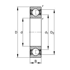 20 mm x 42 mm x 12 mm  FAG 6004-2RSR deep groove ball bearings