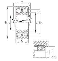 17 mm x 47 mm x 22,2 mm  FAG 3303-B-TVH angular contact ball bearings