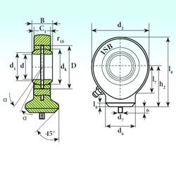 20 mm x 35 mm x 16 mm  ISB T.A.C. 220 plain bearings