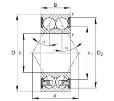 17 mm x 47 mm x 22,2 mm  FAG 3303-BD-2Z-TVH angular contact ball bearings