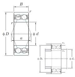 70 mm x 150 mm x 63.5 mm  KOYO 5314 angular contact ball bearings