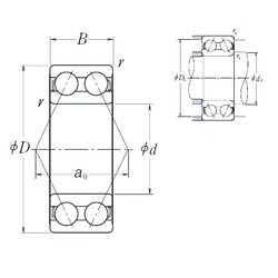 17 mm x 47 mm x 22,2 mm  NSK 5303 angular contact ball bearings