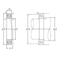 65 mm x 100 mm x 18 mm  NTN HSB013C angular contact ball bearings
