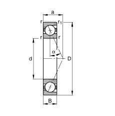 20 mm x 42 mm x 12 mm  FAG B7004-E-T-P4S angular contact ball bearings