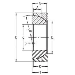 35 mm x 62 mm x 17 mm  Timken GE35SX plain bearings