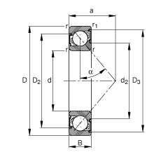 20 mm x 42 mm x 12 mm  FAG 7004-B-2RS-TVP angular contact ball bearings