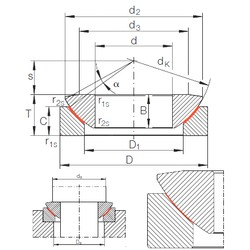 180 mm x 320 mm x 70 mm  INA GE 180 AW plain bearings
