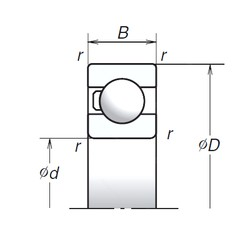 20 mm x 42 mm x 12 mm  NSK 6004T1X deep groove ball bearings