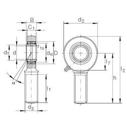 20 mm x 35 mm x 16 mm  INA GAR 20 DO plain bearings