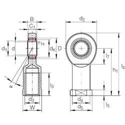 20 mm x 35 mm x 16 mm  INA GIR 20 UK plain bearings