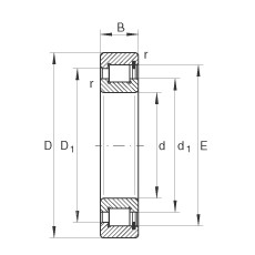 180 mm x 320 mm x 86 mm  INA SL182236 cylindrical roller bearings