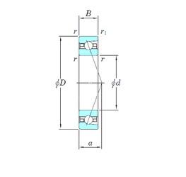65 mm x 100 mm x 18 mm  KOYO HAR013CA angular contact ball bearings