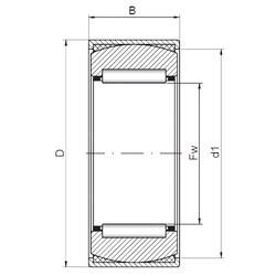 ISO RPNA20/35 needle roller bearings