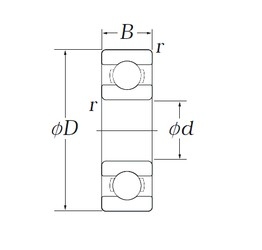 3,175 mm x 9,525 mm x 3,967 mm  KOYO EE0 deep groove ball bearings