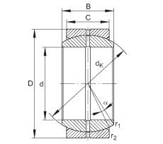 INA GE20-DO plain bearings