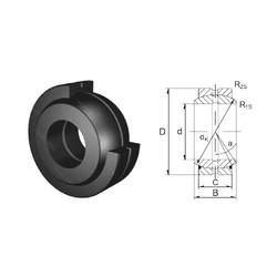 20 mm x 35 mm x 16 mm  ZEN GE20ES plain bearings