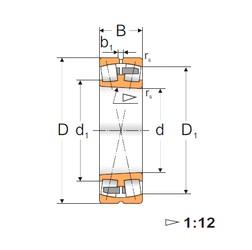 120 mm x 200 mm x 62 mm  FBJ 23124K spherical roller bearings