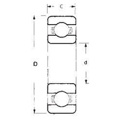 20 mm x 42 mm x 12 mm  FBJ 6004 deep groove ball bearings