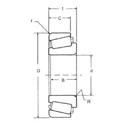 44,45 mm x 95,25 mm x 28,3 mm  FBJ 53178/53375 tapered roller bearings