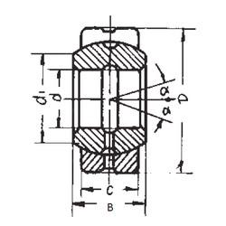 20 mm x 35 mm x 16 mm  FBJ GE20ES plain bearings