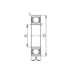 20 mm x 42 mm x 12 mm  KBC 6004UU deep groove ball bearings