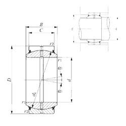 20 mm x 35 mm x 16 mm  IKO GE 20ES-2RS plain bearings