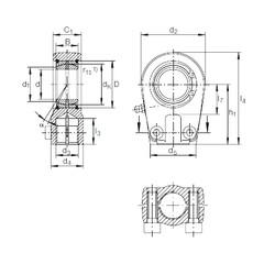20 mm x 35 mm x 16 mm  INA GIHRK 20 DO plain bearings