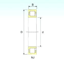 180 mm x 320 mm x 86 mm  ISB NJ 2236 cylindrical roller bearings
