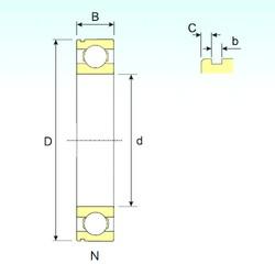 20 mm x 42 mm x 12 mm  ISB 6004 N deep groove ball bearings