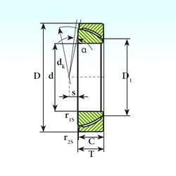 ISB GAC 35 CP plain bearings