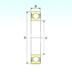 65 mm x 100 mm x 18 mm  ISB 6013-2RS deep groove ball bearings