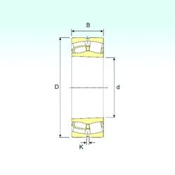 180 mm x 320 mm x 86 mm  ISB 22236 K spherical roller bearings
