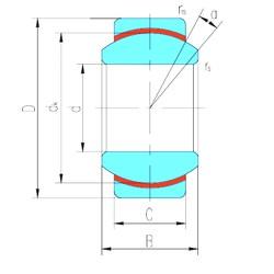 20 mm x 35 mm x 16 mm  LS GE20N plain bearings