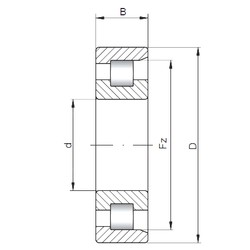 180 mm x 320 mm x 86 mm  ISO NF2236 cylindrical roller bearings