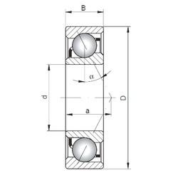 20 mm x 42 mm x 12 mm  Loyal 7004 C angular contact ball bearings