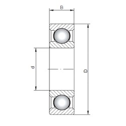65 mm x 100 mm x 18 mm  Loyal 6013 deep groove ball bearings