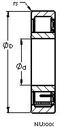 AST NU2236 EM cylindrical roller bearings