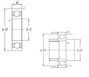 20 mm x 42 mm x 12 mm  KOYO 6004 deep groove ball bearings