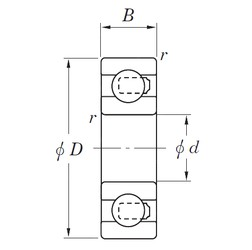 20 mm x 42 mm x 12 mm  KOYO 3NC6004MD4 deep groove ball bearings