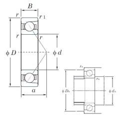 65 mm x 100 mm x 18 mm  KOYO HAR013C angular contact ball bearings