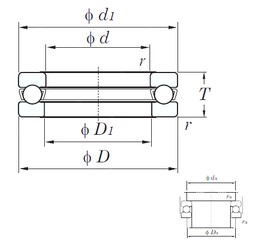 KOYO 51207 thrust ball bearings