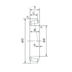 120 mm x 200 mm x 62 mm  NACHI E33124J tapered roller bearings