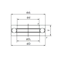 NACHI 51207 thrust ball bearings