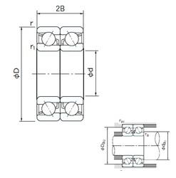 20 mm x 42 mm x 12 mm  NACHI 7004DB angular contact ball bearings