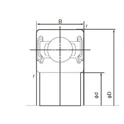 20 mm x 42 mm x 12 mm  NACHI 6004-2NKE deep groove ball bearings