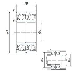 65 mm x 100 mm x 18 mm  NACHI 7013DT angular contact ball bearings