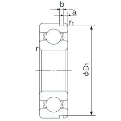 20 mm x 42 mm x 12 mm  NACHI 6004N deep groove ball bearings