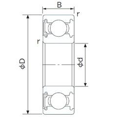 20 mm x 42 mm x 12 mm  CYSD 6004-RS deep groove ball bearings