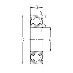 65 mm x 100 mm x 18 mm  NKE 6013-2Z deep groove ball bearings