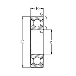 65 mm x 100 mm x 18 mm  NKE 6013-Z deep groove ball bearings